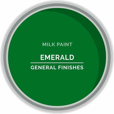 General Finishes Water Based Milk Paint, 1 Pint, Emerald