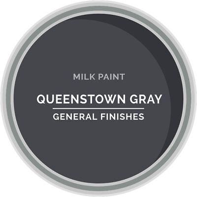General Finishes Water Based Milk Paint, 1 Pint, Queenstown Gray