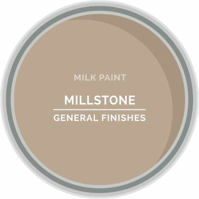 General Finishes Water Based Milk Paint, 1 Pint, Millstone