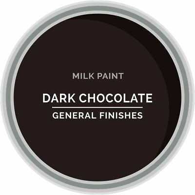 General Finishes Water Based Milk Paint, 1 Gallon, Dark Chocolate