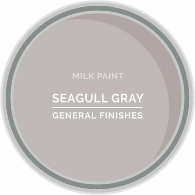General Finishes Water Based Milk Paint, 1 Pint, Seagull Gray