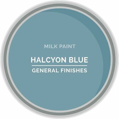 General Finishes Water Based Milk Paint, 1 Pint, Halcyon Blue