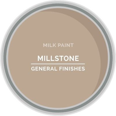 General Finishes Water Based Milk Paint, 1 Quart, Millstone