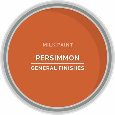 General Finishes Water Based Milk Paint, 1 Pint, Persimmon