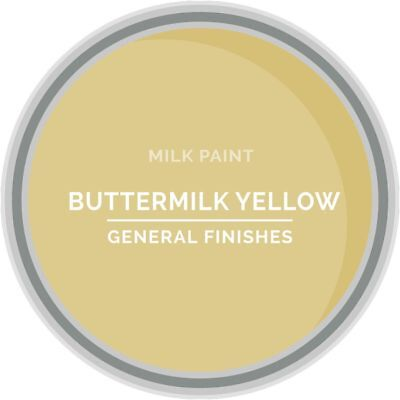 General Finishes Water Based Milk Paint, 1 Pint, Buttermilk Yellow