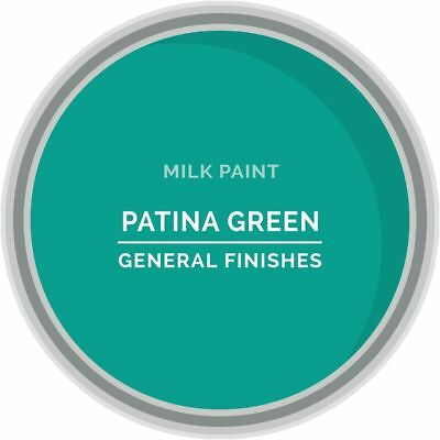 General Finishes Water Based Milk Paint, 1 Pint, Patina Green
