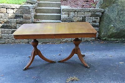 Antique Dining Room Set: Solid Table with built in leaf