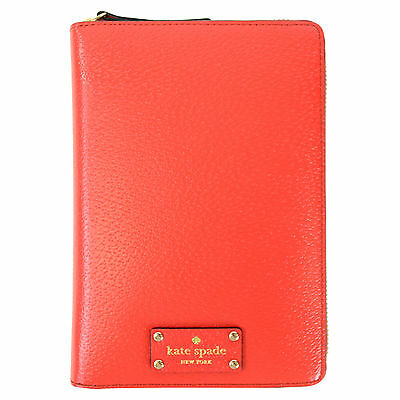NEW Kate Spade Wellesley Zip Around Personal Organize Planner Agenda Cherry Red
