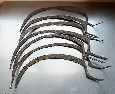 Lot of 7 Antique Roman Ancient Medieval Harvest HAND SICKLE SCYTHE Metal Detect