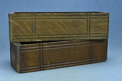 Antique LOT of 2 OAK SEWING MACHINE DRAWERS LEFT & RIGHT SIDES SHABBY OLD #03629