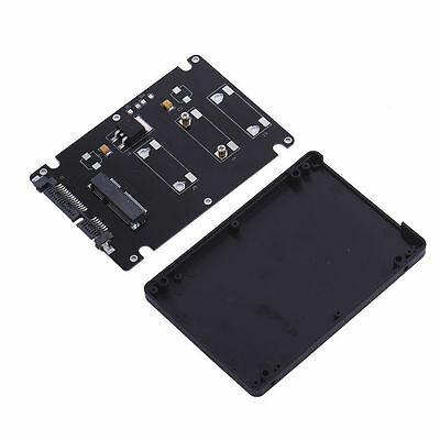 """Mini Pcie mSATA SSD to 2.5"""" SATA3 Adapter Card with Case 7 mm Thickness PC New"""