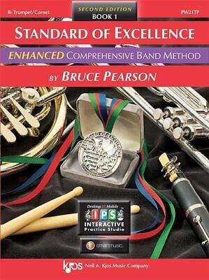 Standard of Excellence Enhanced Book 1 Trumpet + Audio PW21TP PEARSON KJOS NEW