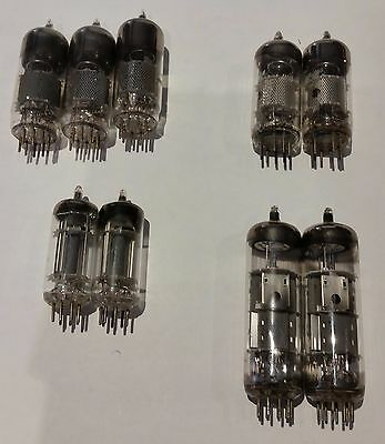 ELECTRON VACUUM TUBE VALVES Various Lot of (9) UNTESTED  FREE SHIPPING.