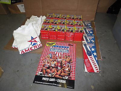 Lot 300 Vintage American Gladiators Trading Card Sets Armitron Watch / T-Shirt