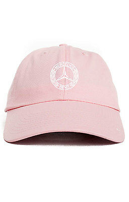 d0af41dfe9d78 MERCEDES BENZ LOGO Custom Unstructured Dad Hat Baseball Cap New-Pink ...