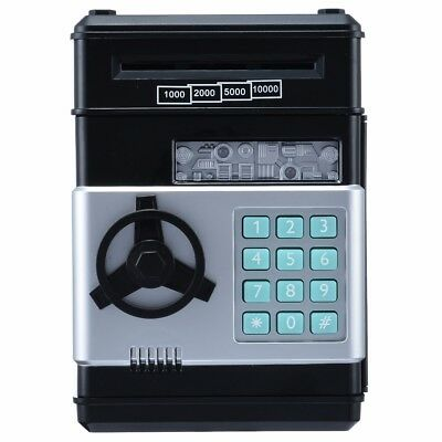 Combination Lock Money Box Code Key Coins Cash Saving Piggy Bank Counter Gift
