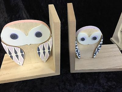 Bookends - Pastels  -Owls or Squirrels Children's Book Ends Nursery Decor Kids