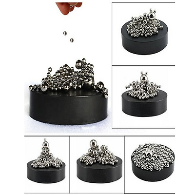 Magnetic Sculpture Desk Toy Stainless Steel Ball Stress Relief Office Decoration