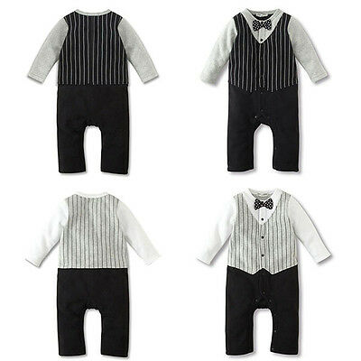 Gentle Kid Baby Boy Cotton Long Sleeve Romper Jumpsuit Casual Winter Party Suit