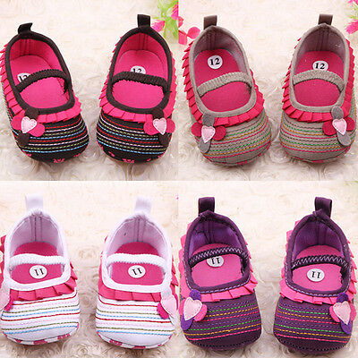 Infant Baby Kid Soft Sole Crib Shoes Toddler Girl Flower Casual Prewalker Canvas