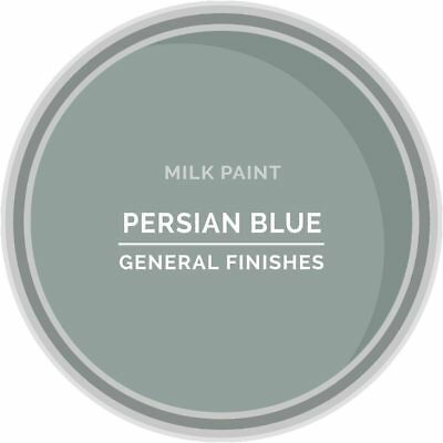 General Finishes Water Based Milk Paint, 1 Quart, Persian Blue
