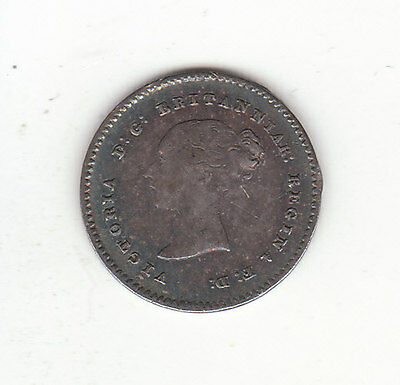 1838 Great Britain Queen Victoria Sterling Silver Two Pence.