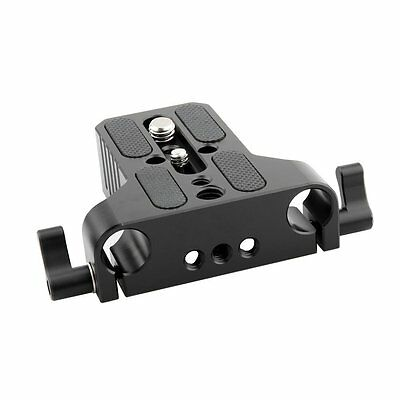 NICEYRIG Multipurpose Camera Base Plate with Rod Rail Clamp for DSLR Rig 15mm