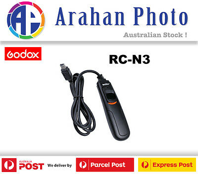 Godox RC-N3 Shutter Remote Cable Release for Nikon D7000, D7100, D7200, etc