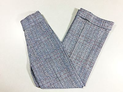 Vintage 1960s Plaid Pants Red White Blue Plaid Bell Bottoms Polyester High Waist