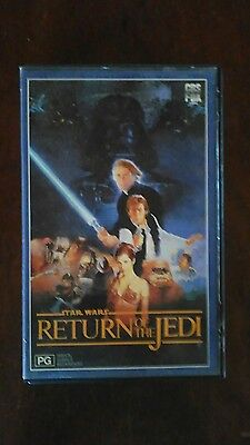 VHS RARE FIND ( STAR WARS RETURN OF THE JEDI ) 80s FOX RELEASE IN LARGE CASE
