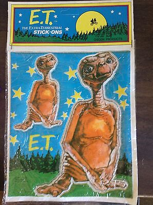 Vintage E.T. Extra Terrestrial STICK-ONS 1982 ET Movie Stickers, Supa Products