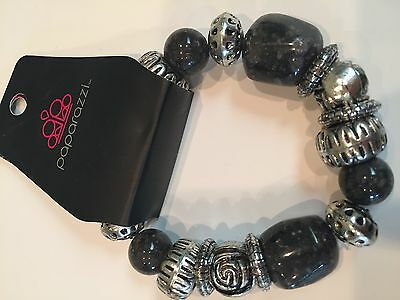 Paparazzi New Adventures Blue Bars And Silver Blue Beads Stretchy