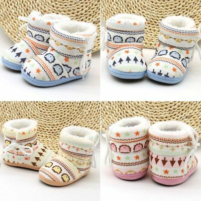 Baby Kid Boy Girl Winter Warm Snow Boots Infant Toddler Soft Slipper Crib Shoes
