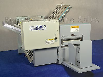 Duplo EX-2000 Pressure Sealer - folds and seals pressure sealed mailing forms
