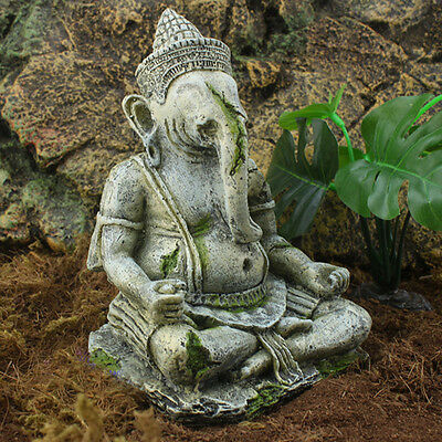 Fish Tank Decoration Aquarium Resin Ornaments Indian Ganesh Buddha Statue