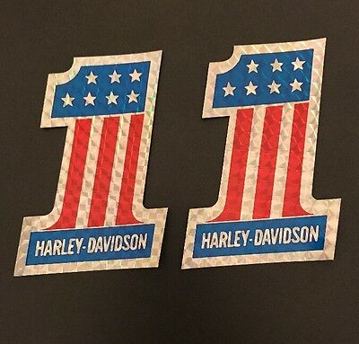NEW Vintage Harley Davidson #1 Stickers Decals - Lot of 2