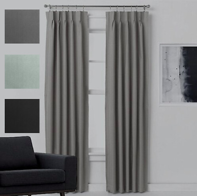 Quickfit Pinch Pleat Blockout Thermal Blackout Lined Curtain Pair