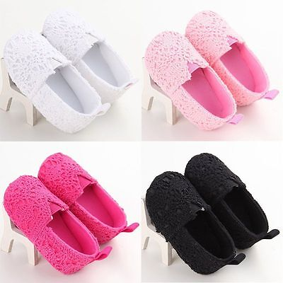 Toddler Baby Girl Casual Cotton Shoes Infant Kid Solid Soft Sole Crib Prewalker