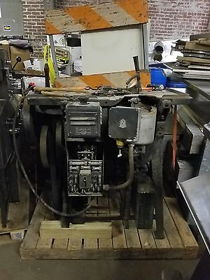 LUDLOW TYPOGRAPH MACHINE  ML9G, with Cutler Hammer VINTAGE