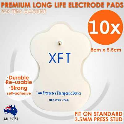 10x XFT TENS Machine Gel Pads Self Adhesive Reusable Electrode Pads AU