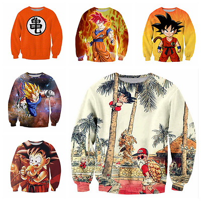 New Fashion Womens/Mens  Anime Dragon Ball Z Funny 3D Print Sweatshirts SJ05