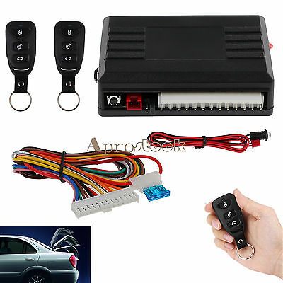 Universal Car 2 Central Remote Door Locking Kit Vehicle Keyless Entry System DT