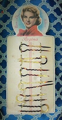 Forcine Per Capelli ' Regina ' Custodia Originale Anni 50 Made In Italy