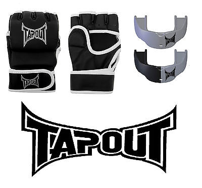 TAPOUT Striking Gloves L/XL and 2 Pack Adult Mouthguard Silver/Black BRAND NEW