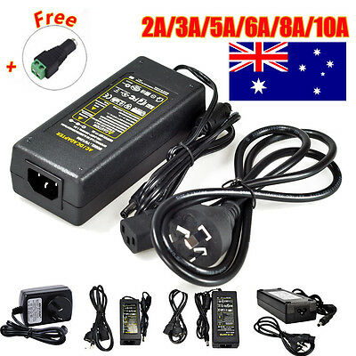 AU Plug DC 12V 2/3/5/8/10A Power Supply Charger Transformer LED Strips Adapter