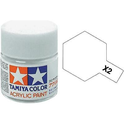 Tamiya X2 Colore Acrilico Lucido Bianco Gloss White Mini 10 Ml  Art 81502