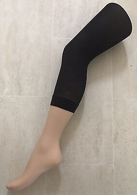 Ladies FLIRT Short Plain Black Footless Tights, One Size 40Denier  BRAND NEW