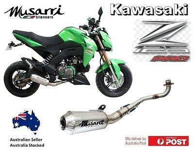 Kawasaki Z125 Pro 2016-2017 Musarri Full System Performance GP Exhaust Stainless