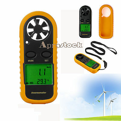 Air Wind Speed Meter Velocity Digital LCD Handheld Anemometer Thermometer Gauge