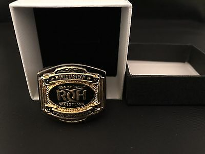 Wwe Wwf Roh World Tag Championship Wrestling Belt 18k Gold Plated Ring